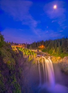 Snoqualmie Falls Midnight