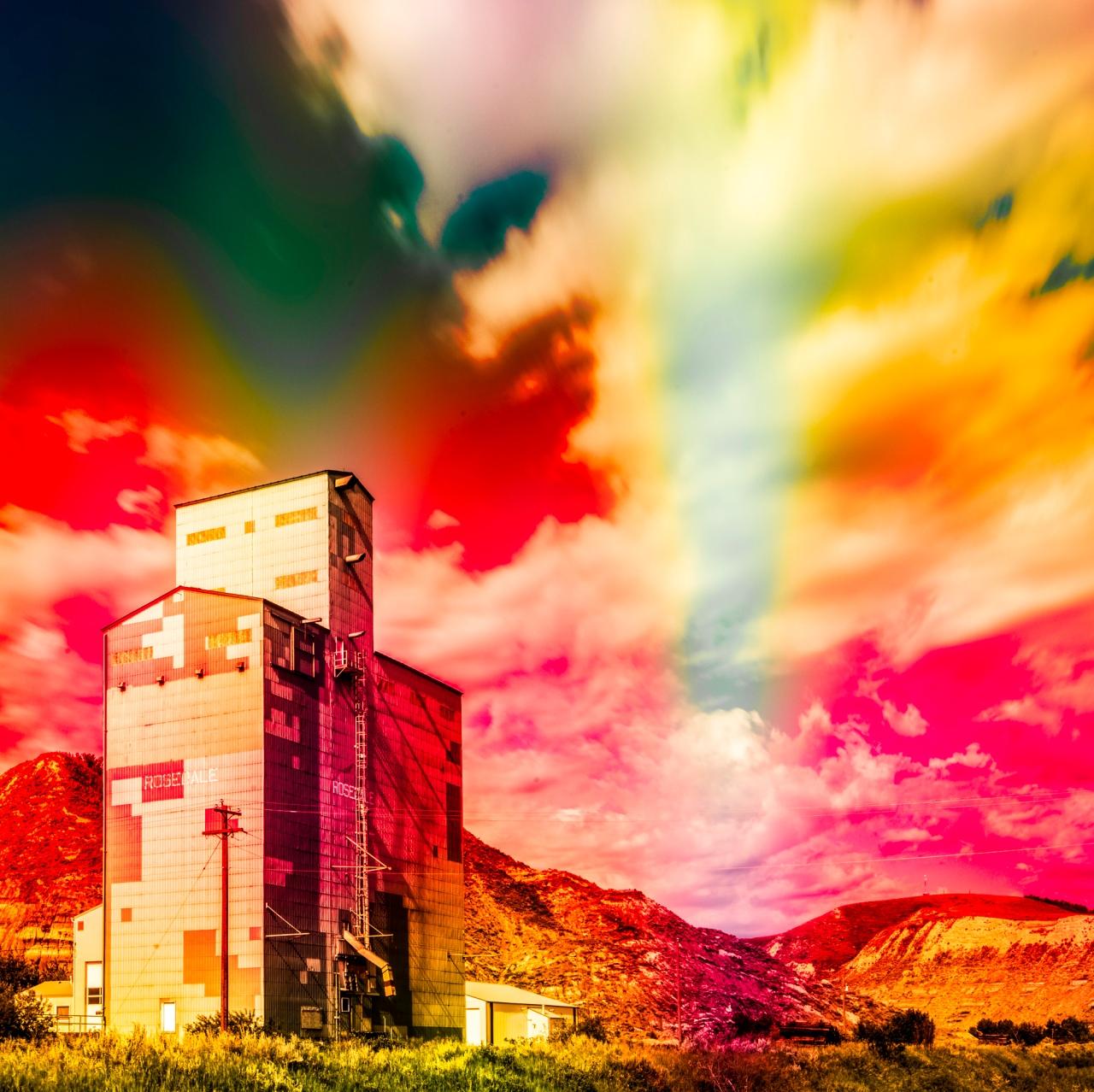 Vanishing Prairies Grain Elevator red