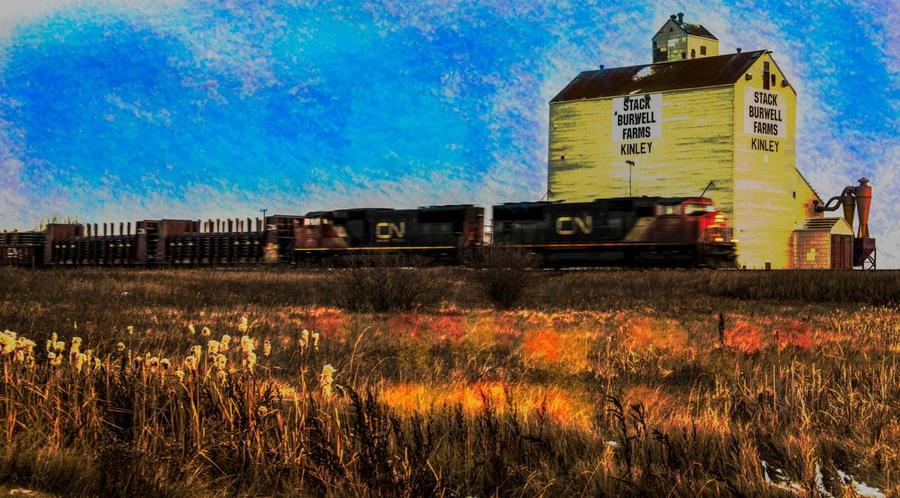 Vanishing Prairies Grain Elevator watercolour