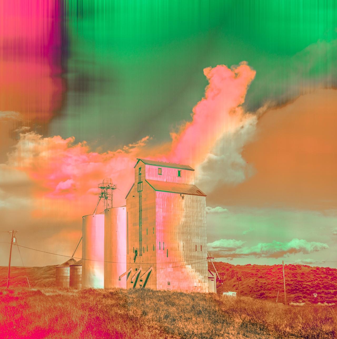 Vanishing Prairies Grain Elevator green