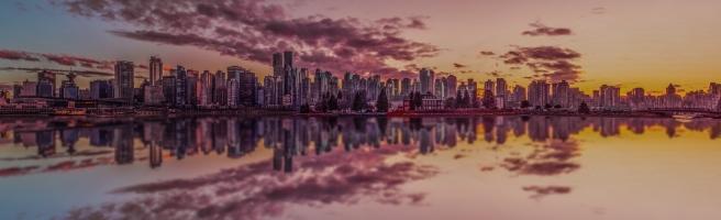 city sunset reflection (1 of 1)