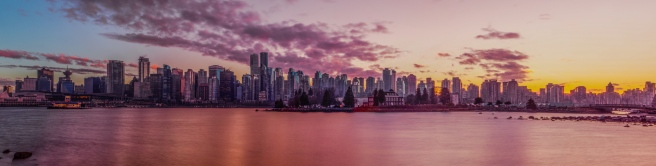 vancouver skyline sunset (1 of 1)