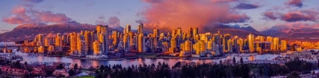 Vancouver winter panorama 2