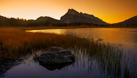 vermillion lakes sunrise (1 of 1)-2