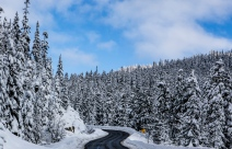 winding winter backroad way past Whistler (1 of 1)