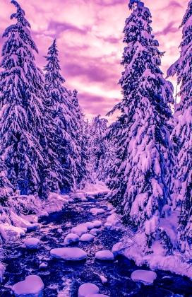 winter stream sunset (1 of 1)